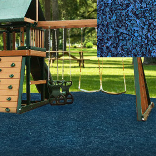 Kidwise Playground Recycled Rubber Mulch 75 Cu.Ft. Pallet - Blue at Sears.com