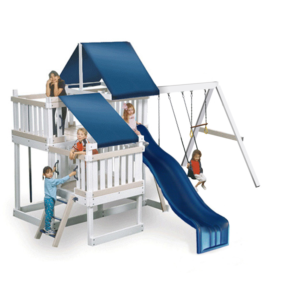 KidWise Congo Monkey Playsystems CONGO Monkey Playsystem 2 with Swing Beam -WHITE and SAND at Sears.com