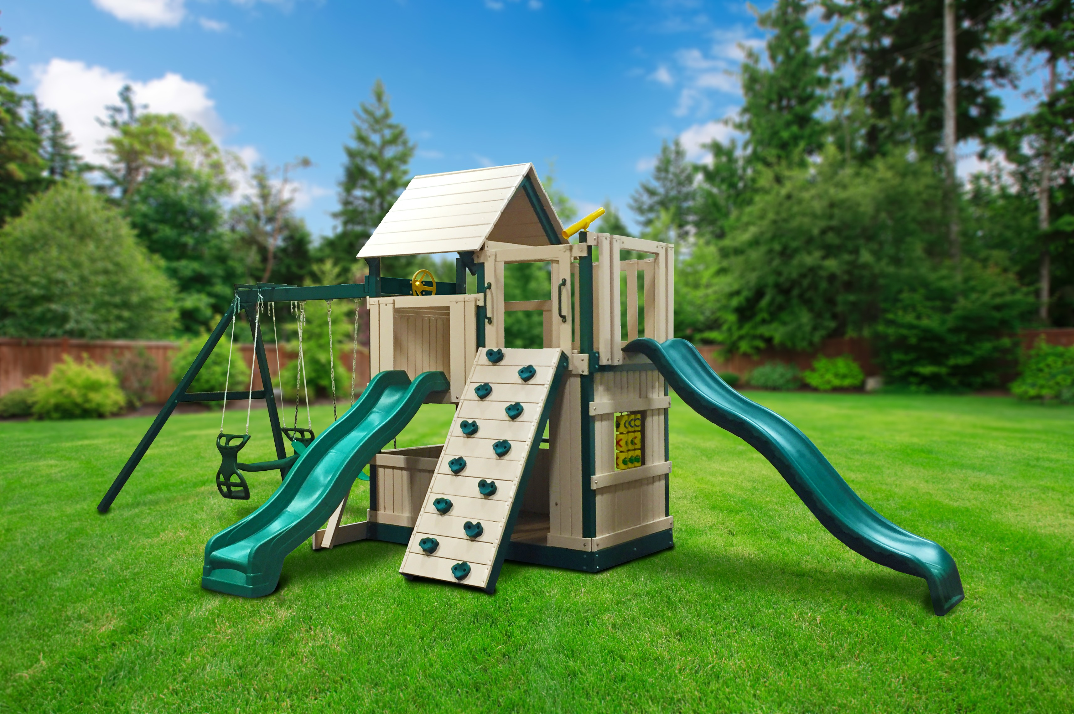 Congo Safari Deluxe Lookout and Climber Swing Set