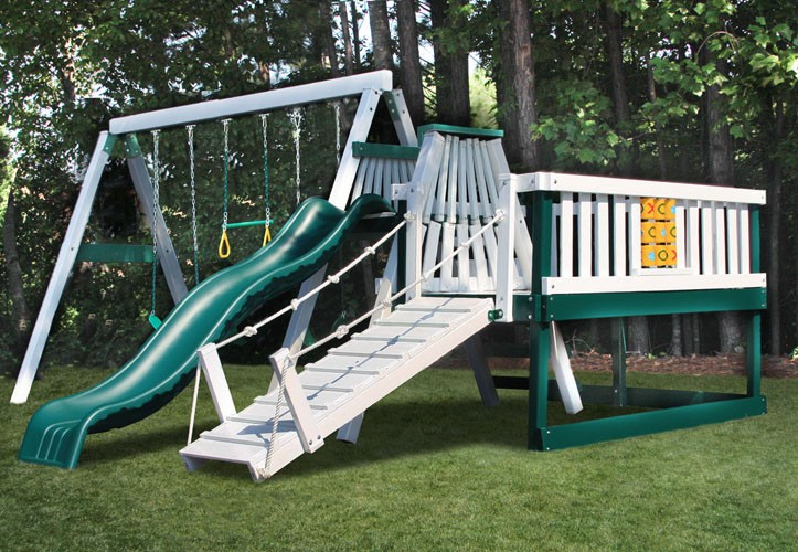 Congo Swing N Monkey 3 Position Swing Set With Play Deck